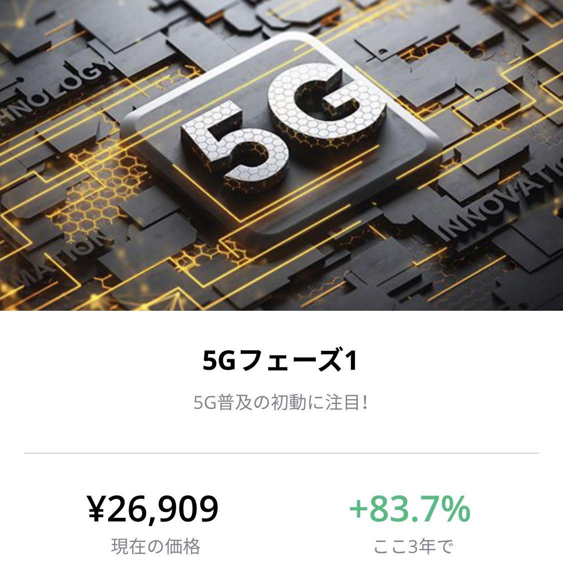 ラインテーマ投資5G